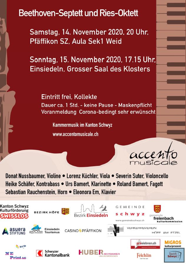 Kammermusik-Konzert mit Beethoven-Septett