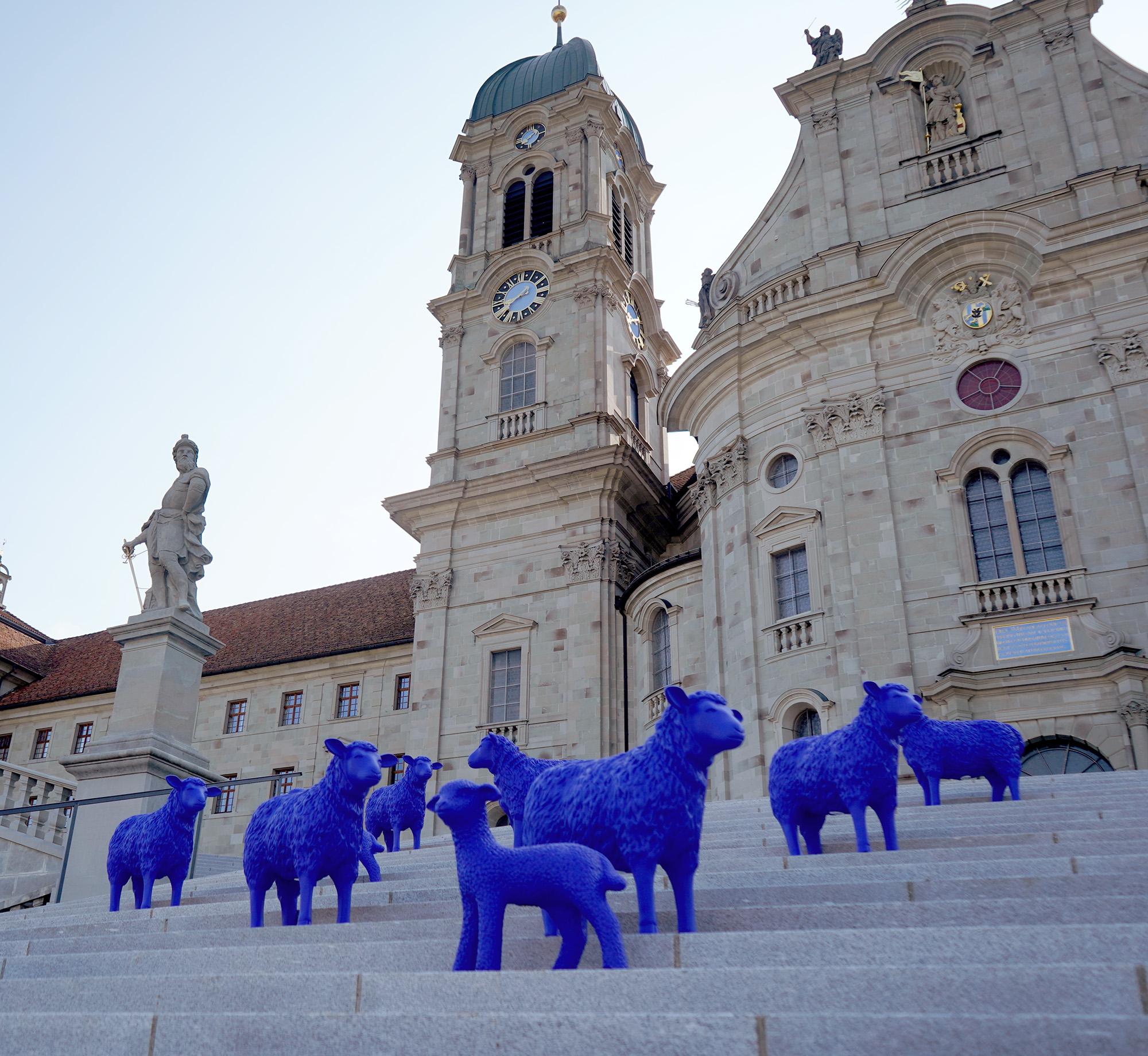 Im Rahmen einer mehrjährigen Ausstellungstour ist die Herde in vielen europäischen Städten unterwegs und weidet nach ihrer Reise und einem kurzen Zwischenhalt im Kloster Einsiedeln ebenfalls auf der Insel Ufnau.