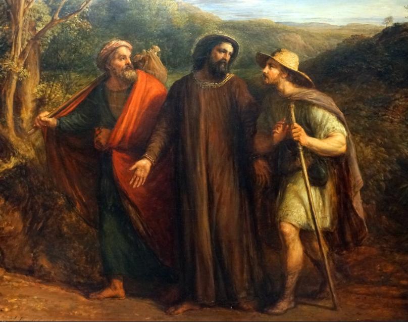 Pater Pascal kam in seiner Predigt auf die Freude der beiden Emmausjünger (Bild) zu sprechen.
