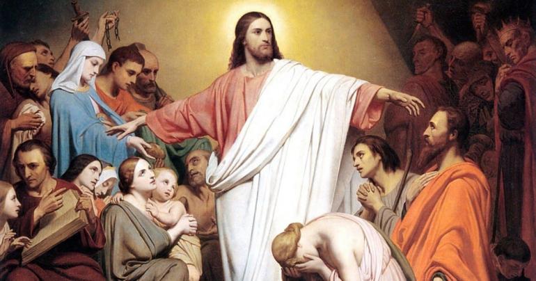 """""""Jesus blickte auf die Menschen, die im Kreis um ihn herumsassen, und sagte: Das hier sind meine Mutter und meine Brüder. Wer den Willen Gottes erfüllt, der ist für mich Bruder und Schwester und Mutter."""" (Markusevangelium 3,35)"""