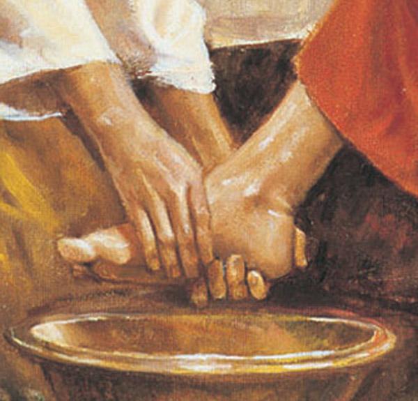 """""""Wir dürfen Jesu zärtlichen Umgang Jesu mit den Füssen seiner Apostel auch auf uns – und ja, sogar auch auf unsere Füsse! – beziehen. Sie sind dem Sohn Gottes unendlich kostbar, weil sie die Füsse seiner Freunde sind!"""""""